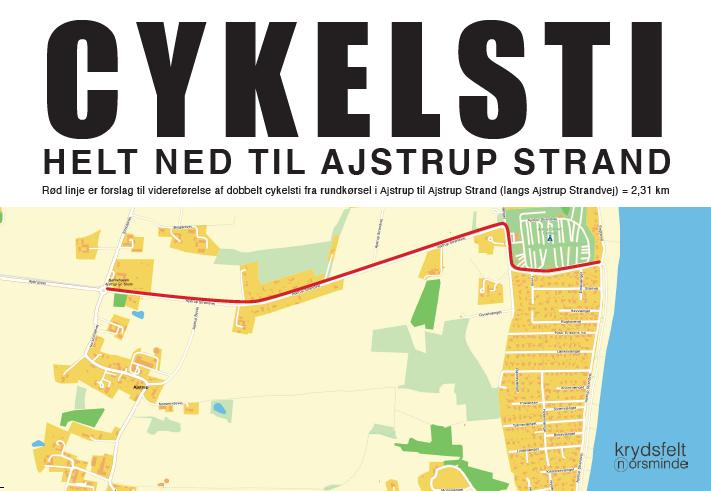 Cykelsti til Ajstrup Strand